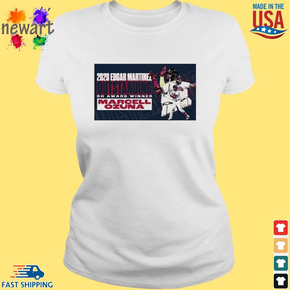 2020 Edgar Martinez Outstanding Dh Award Winner Marcell Ozuna Shirt ladies trang