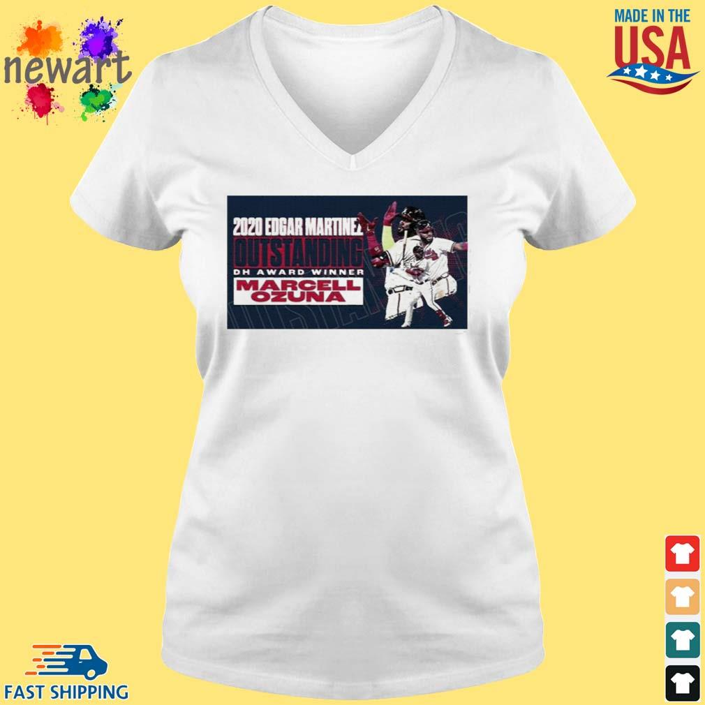 2020 Edgar Martinez Outstanding Dh Award Winner Marcell Ozuna Shirt vneck trang