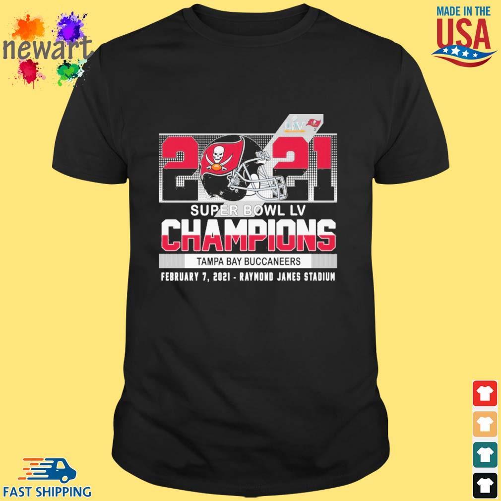 2021 super bowl liv Champions Tampa Bay Buccaneers february 7 2021 shirt