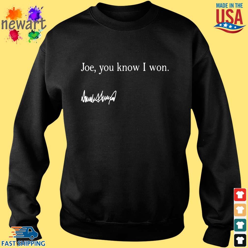 Joe you know I won s Sweater den