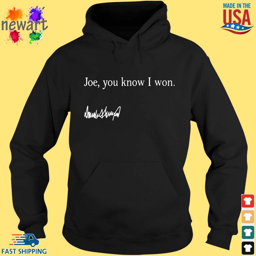 Joe you know I won s hoodie den