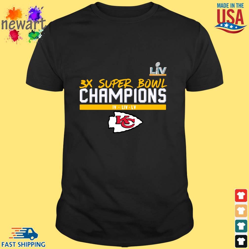 LIV 3x super bowl Champions Kansas City Chiefs shirt